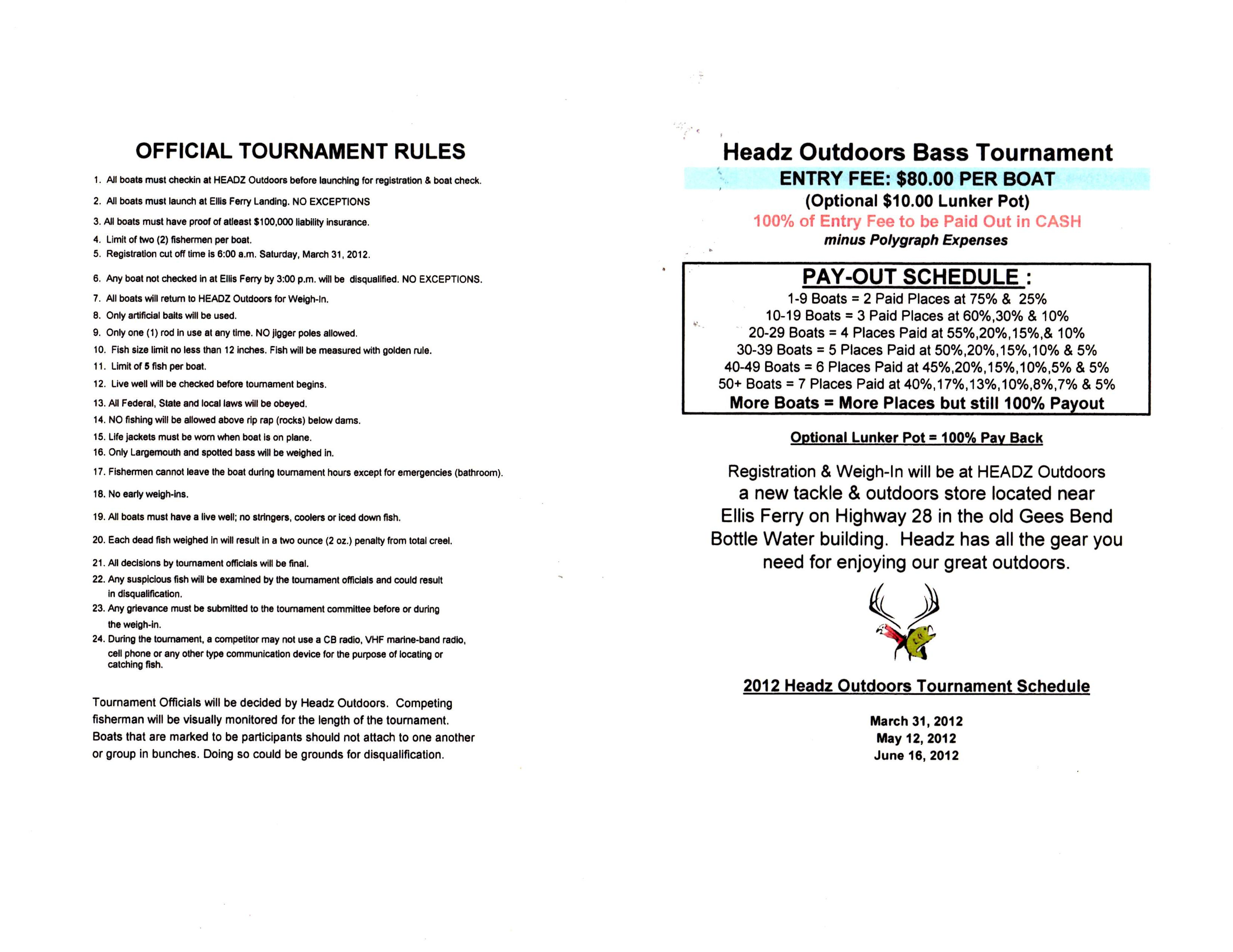 Headz Outdoors Bass Tournament1
